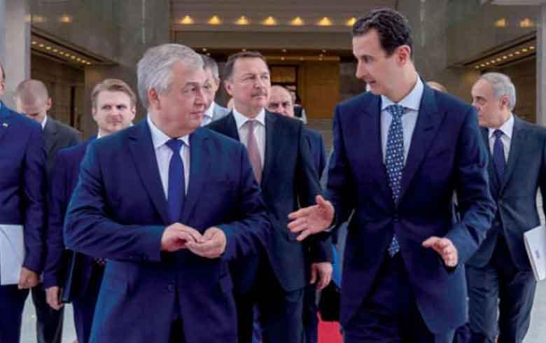 الأسد يبحث مع مبعوث بوتين تشكيل لجنة «مناقشة الدستور»