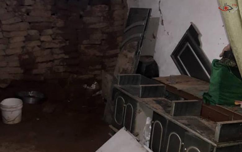 انهيار منزل طيني بسبب الأمطار في ريف الدرباسية