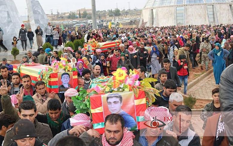 تشييع شهداء القصف التركي على شنكال