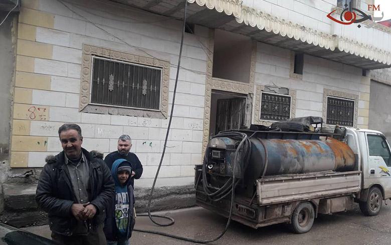 استمرار توزيع مازوت التدفئة على الأهالي وتخصيص 400لتر لكل عائلة