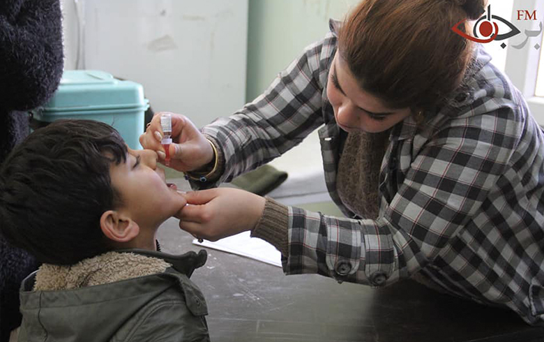استمرار حملة اللقاحات الفموية ضد شلل الأطفال والتي تنتهي يوم غد الجمعة