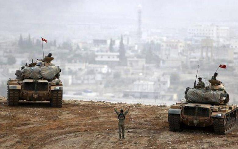 تركيا تقصف قرية سيلم وكور علي في الريف الغربي من كوباني.