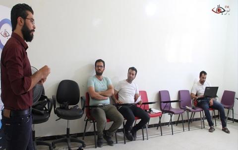 برجاف ومع الوسائل الاعلامية تعقد ورشة حول التصوير والمونتاج في كُوباني