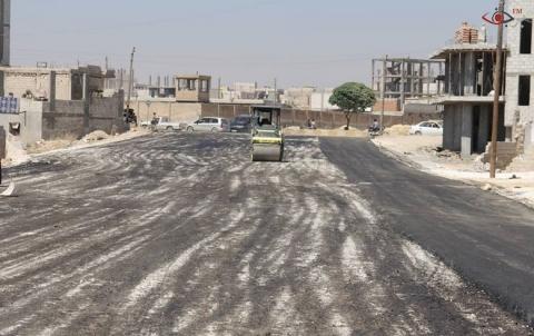 100ألف م2 المساحة الإجمالية لعملية تزفيت الشوارع الرئيسية والفرعية داخل احياء كوباني