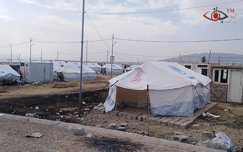 """لايزال يتوافد اللاجئون الكُرد من سوريا إلى مخيم """"بردرش""""في اقليم كوردستان"""