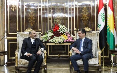 رئيس حكومة إقليم كوردستان يستقبل رئيس تيار الغد السوري
