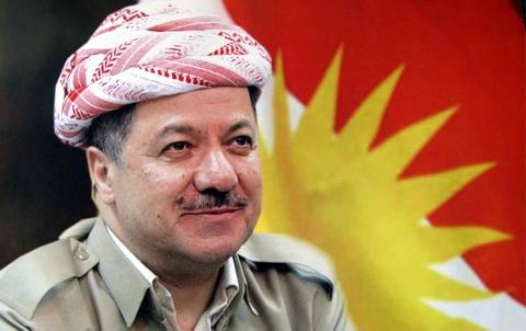 بارزاني: علم كوردستان يرمز لكفاحنا من أجل السلام والحرية والتعايش