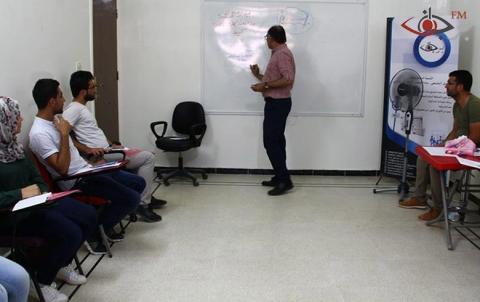 ورشة التدريب الإعلامي لمؤسسة برجاف في يومها الثاني