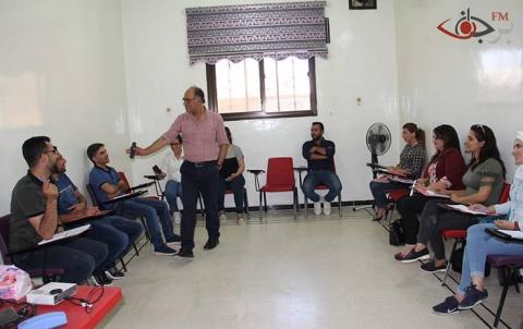 ورشة التدريب الإعلامي لمؤسسة برجاف في يومها الرابع